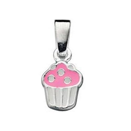 Cupcake Silver Pendant