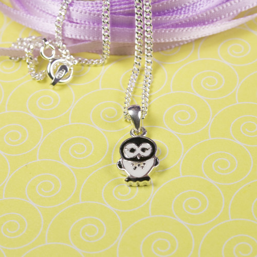 Sterling Silver Black/White Necklace