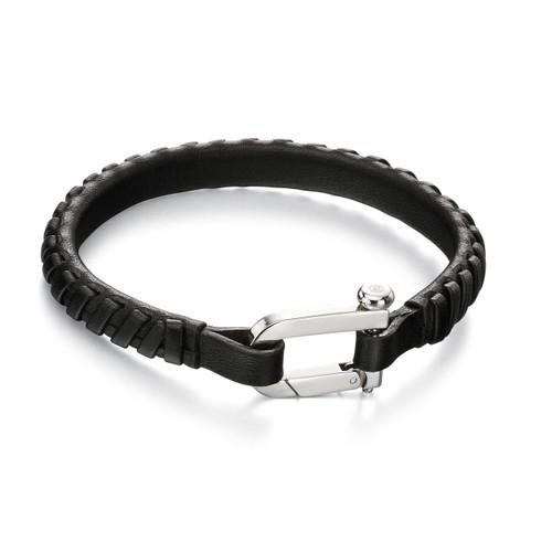 Fred Bennett Maverick Black Leather Bracelet - 19cm - B5000