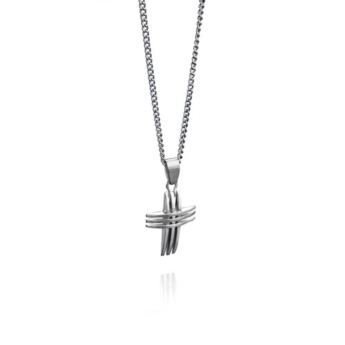 Fred Bennett Maverick Stainless Steel Triple Cross Pendant - P2563