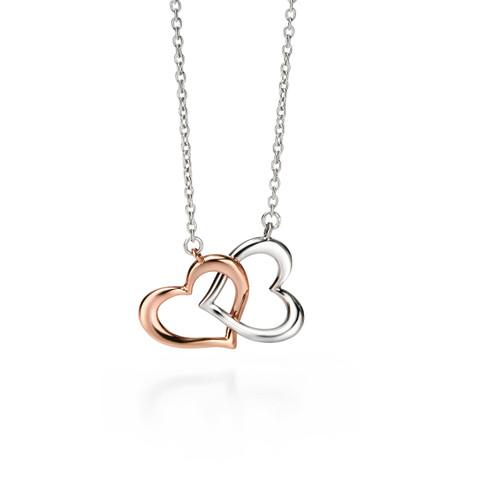 Fiorelli Rose Gold & Silver Heart Pendant