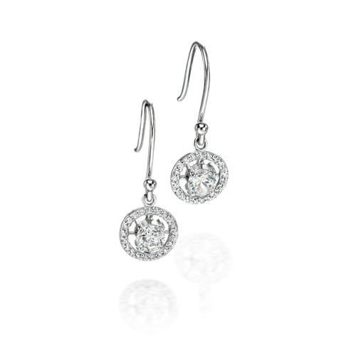 Fiorelli Cubic Zirconia & Silver Round Earrings