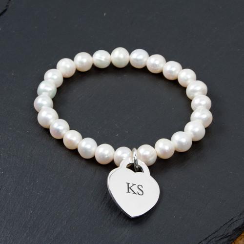 Personalised Forever White Pearl Bracelet