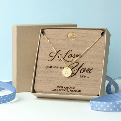 Personalised Just The Way You Are Necklace & Keepsake - 1