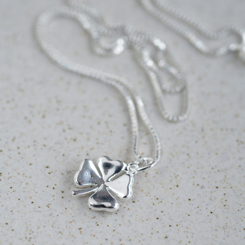Sterling Silver Lucky Clover Necklace
