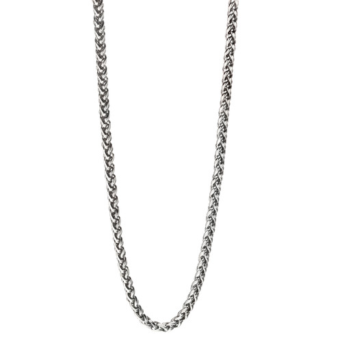 Fred Bennett Stainless Steel Twisted Link Necklace - N4209