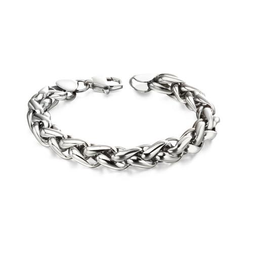 Fred Bennett Stainless Steel Twisted Link Bracelet - B5057