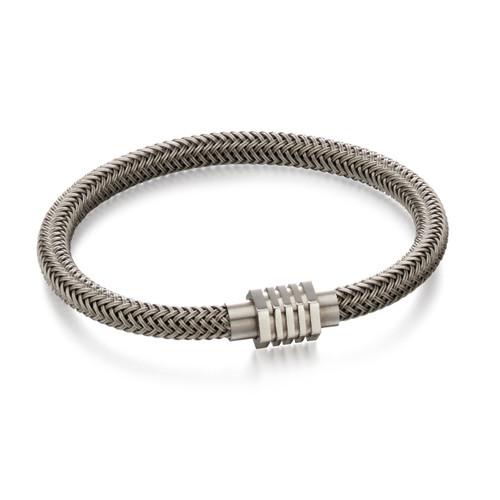 Fred Bennett Grey Steel Woven Bracelet - B5054