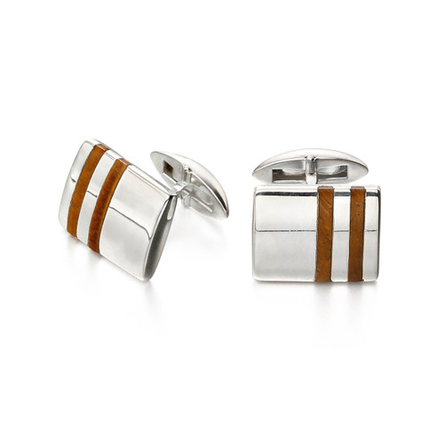Fred Bennett Sterling Silver and Tigers Eye Cufflinks