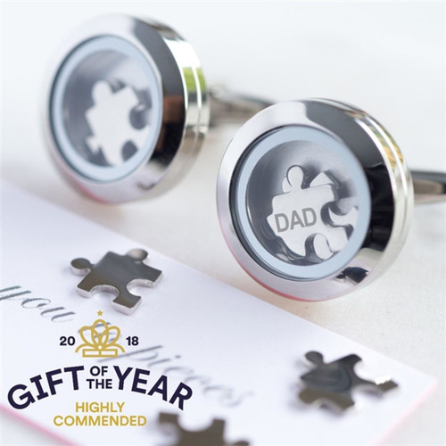 Love You To Pieces Cufflinks - Stainless Steel