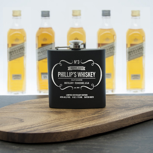 Personalised Whiskey Hip Flask - Pic 1