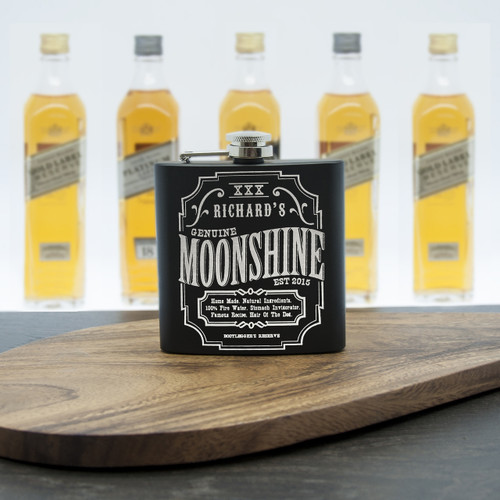 Personalised Moonshine Hip Flask - Pic 1