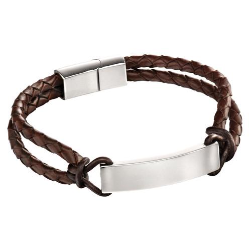 Fred Bennett Leather Rope ID Bracelet