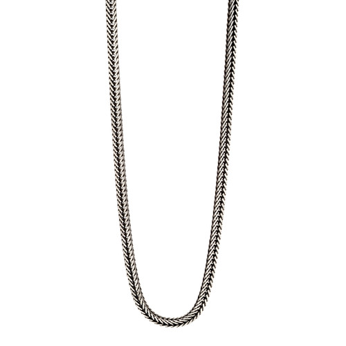 Fred Bennett Sterling Silver Oxidised Fox Tail Chain