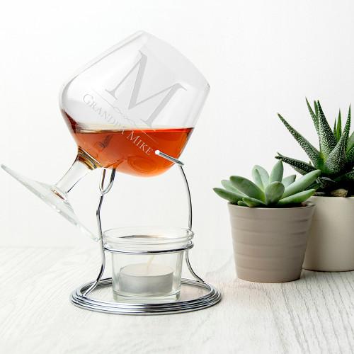 Personalised Brandy Warmer Set - 1