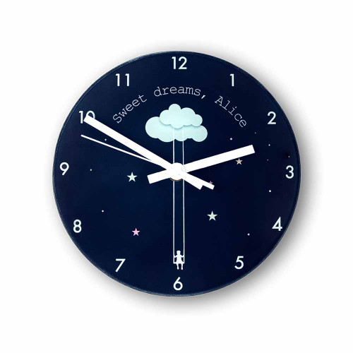 """Personalised """"Sweet Dreams Little One"""" Wall Clock - Pic 1"""