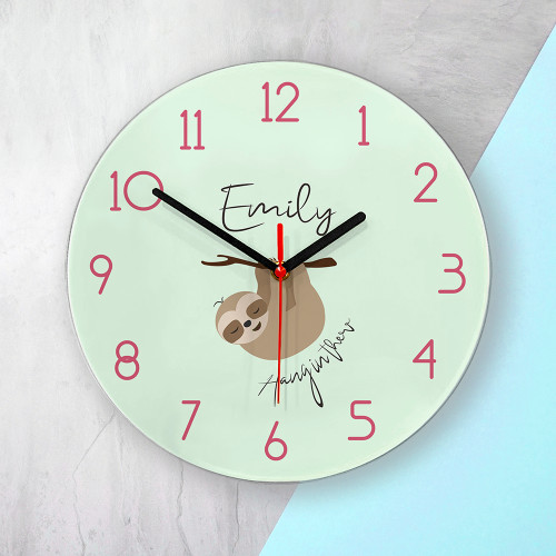 Personalised Hang in There Wall Clock - 30cm