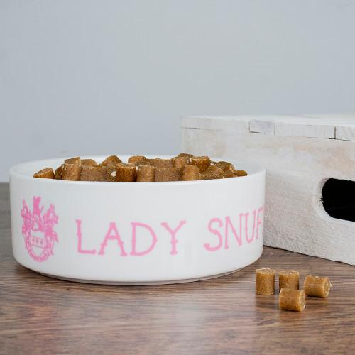 Personalised Lady Cat Food Bowl - Pic 1