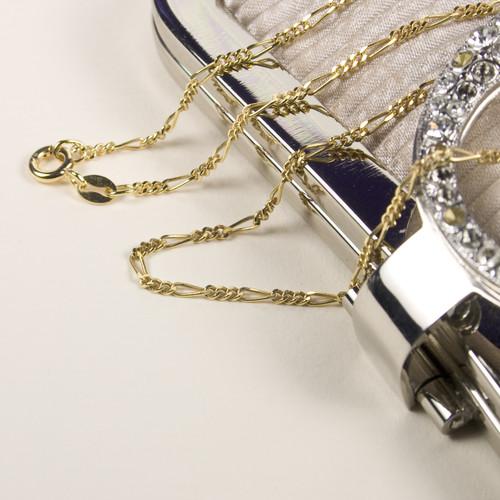 "24 Carat Gold Figaro Chain 19"""