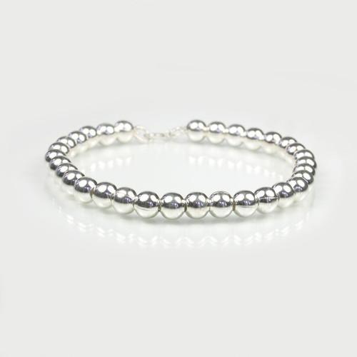 Silver Ball Bracelet Medium