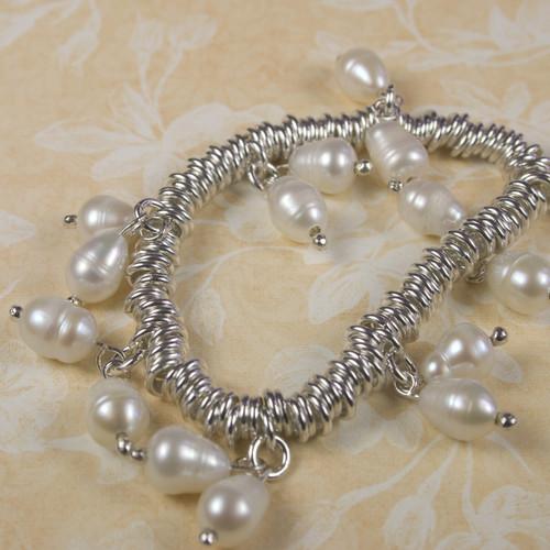 River Pearl Charm Bracelet for Women