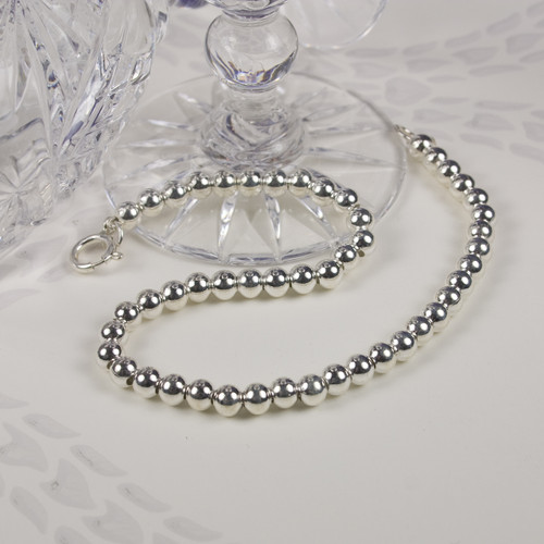 Silver Ball Bracelet Small