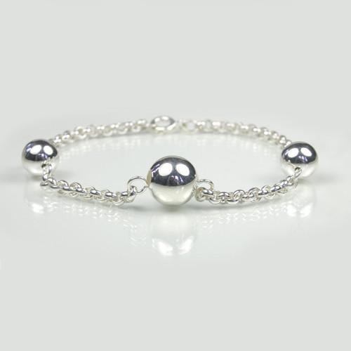 Silver Three Ball Bracelet for Women