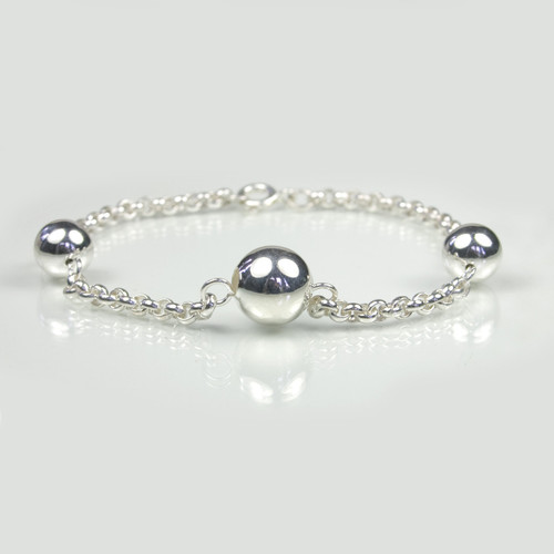 Silver Three Ball Bracelet for Women