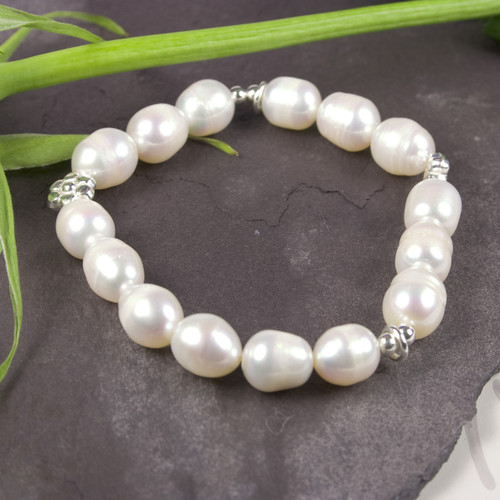 Pearl Silver Bracelet for Women