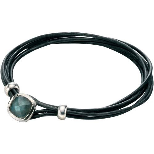 Fred Bennett Labradorite Leather Bracelet