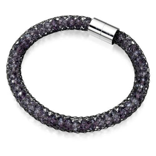 Fiorelli Black Purple Crystal Mesh Bracelet - fiorelli Costume Jewellery