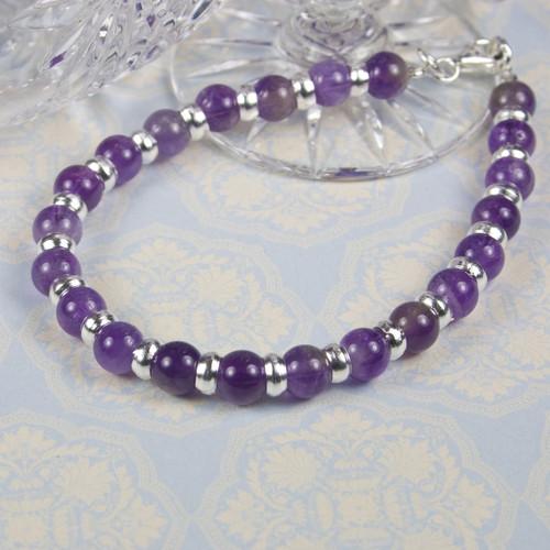 Amethyst Silver Bracelet for Women
