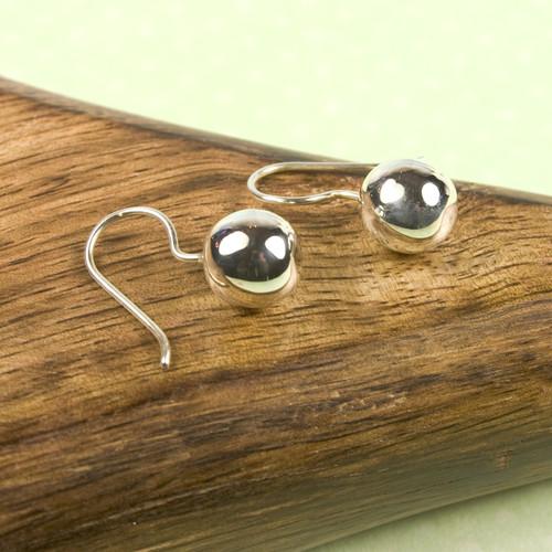 Small Droplet Silver Earrings