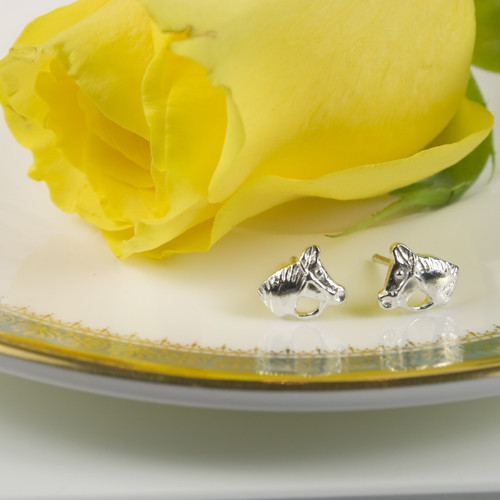 Silver Horse and Bridle Earrings
