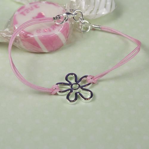 Childrens Silver Flower Bracelet