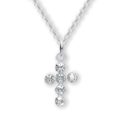 Gaventa Sterling Silver Crystal Cross Pendant