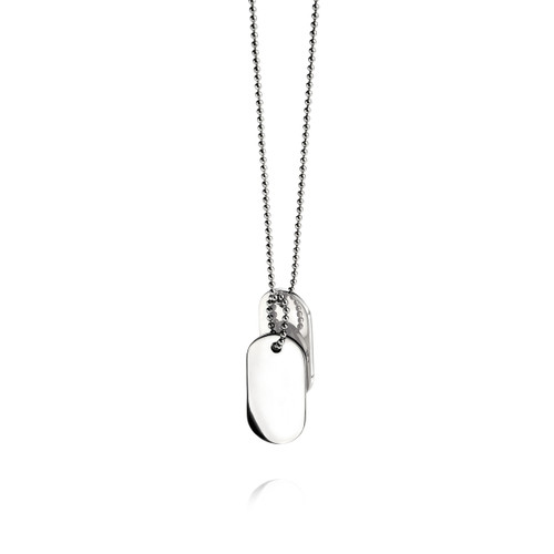 Fred Bennett Maverick Stainless Steel Oval Dog Tags Necklace - N2686