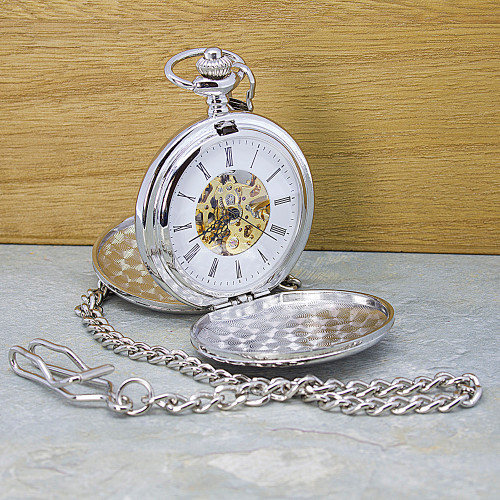 Personalised Dual-Sided Pocket Watch - 1