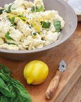 marinated mozzarella with basil and prosciutto