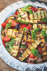 shrimp and summer garden salad recipe