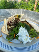 beetroot and mint falafel with super-nutritious tzatziki