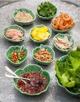 thai prawn, mango and coconut lettuce parcels recipe