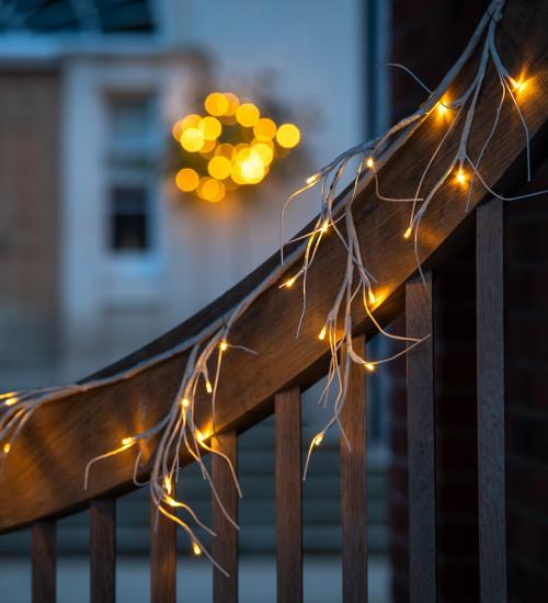 Birch Garland with Lights