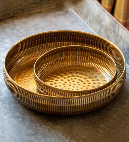 Hammered Golden Effect Tray