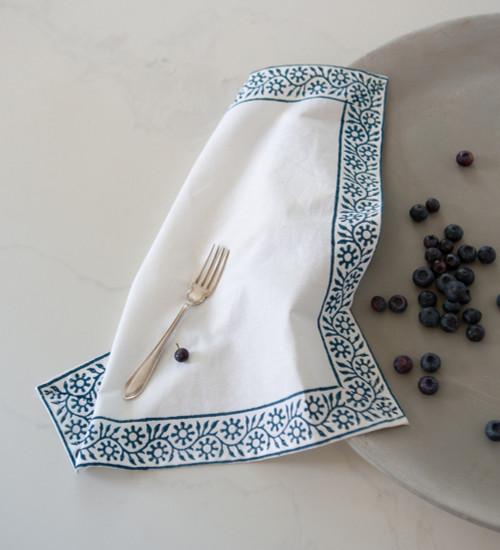 Cotton Hand Block Printed Napkins