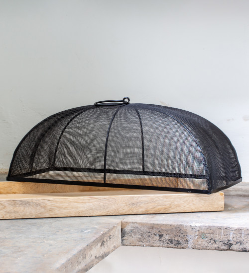 Wooden Tray with Mesh Dome