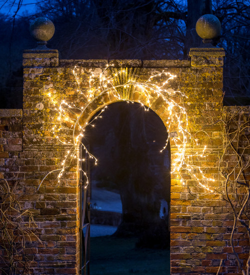 Gold Branch Garland with Lights