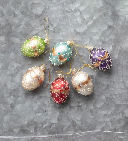 Glass Jewel Eggs