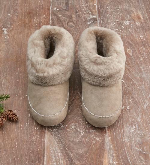 Sheepskin Cuff Slippers