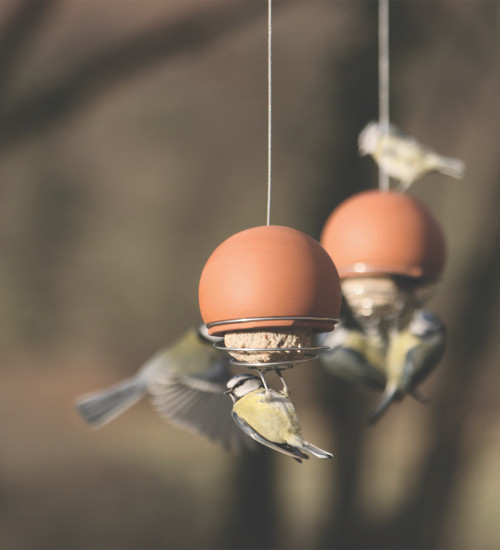 Terracotta Ball Suet Feeder